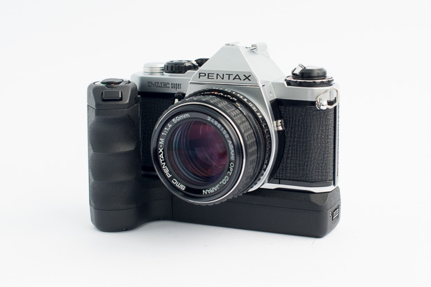 Pentax ME Super with winder