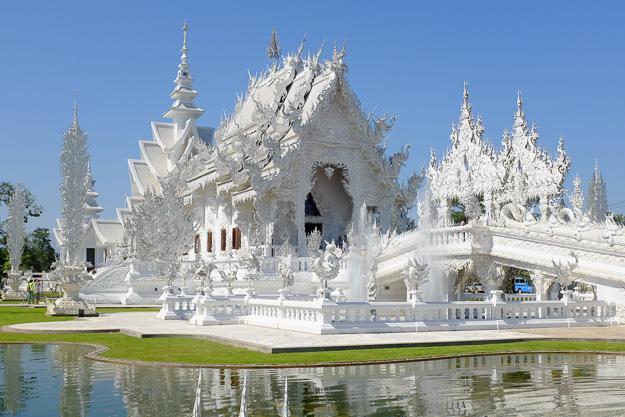 Тайланд. Ват Ронг Кхун, Білий Храм. Чанг Рай.