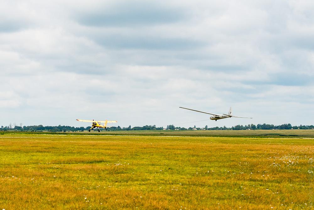 Політ на планері. Аеродром Воронів, Рівненська область.